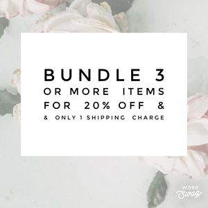 20% OFF on Bundle of 3 or more